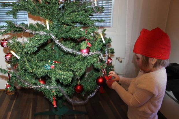 Joulukuusikin tietty löytyy!