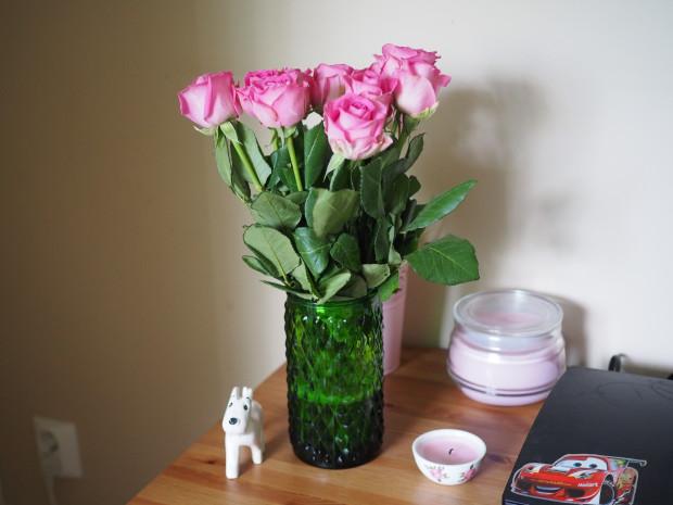 Tuotiin emännälle ruusuja