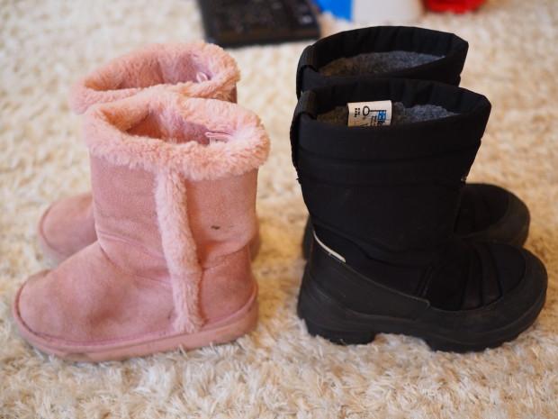 """Amalian vaaleanpunaiset """"kauppakengät"""" ovat H&M:stä ja talvikenkinä lämpimät kuomat"""